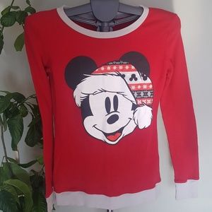 💝3 for $30💝 Mickey mouse santa hat sleep top